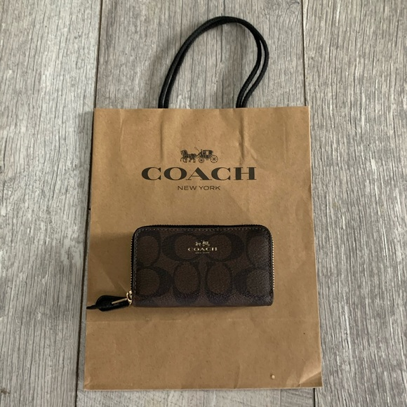 Coach card/coin holder